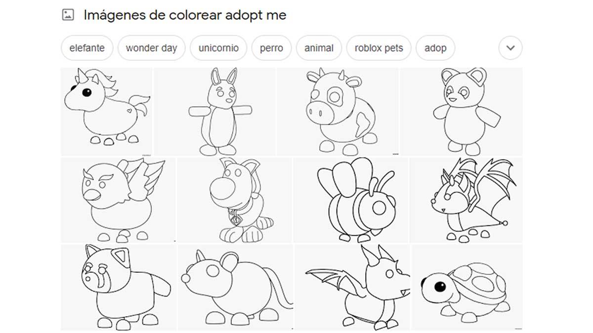 Dibujos para colorear adopt me roblox